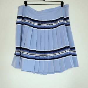 Tommy Hilfiger Blue Pleated Skirt Arrow Striped